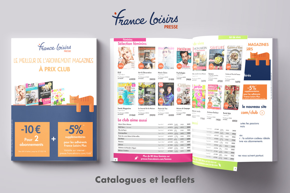 Catalogue France Loisirs Presse Calypso PIERRON