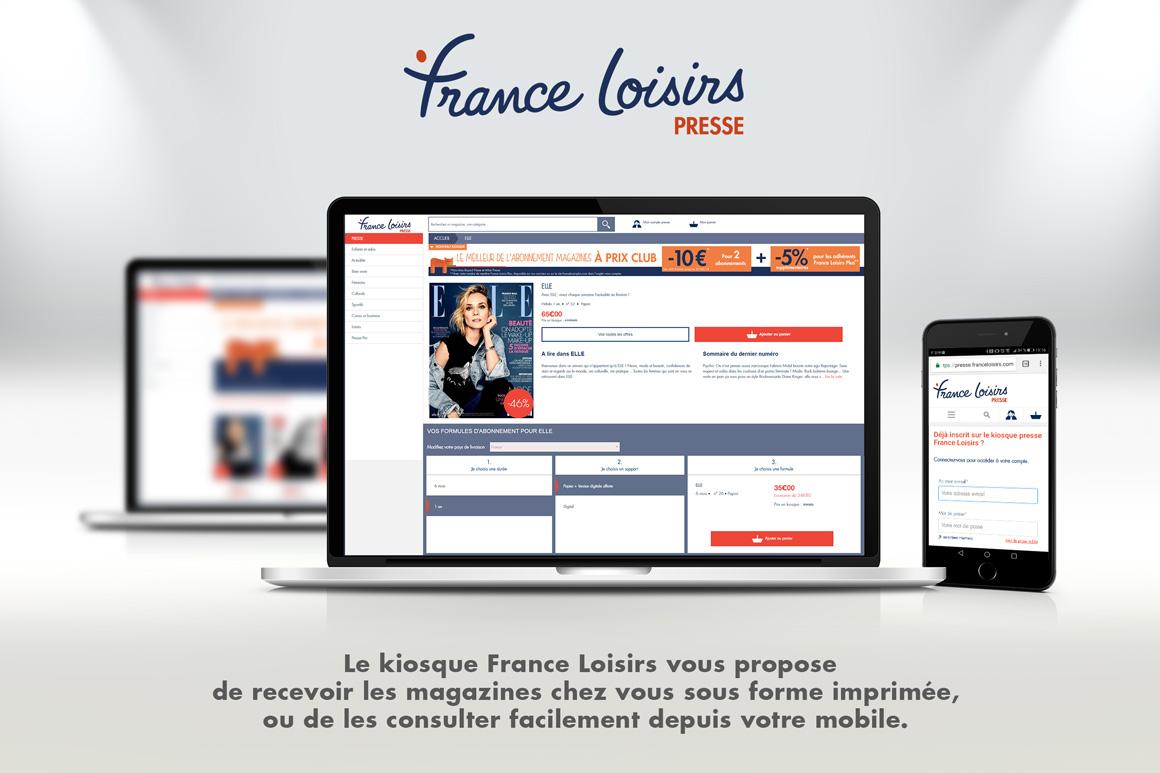 France Loisirs Presse siteweb Calypso PIERRON